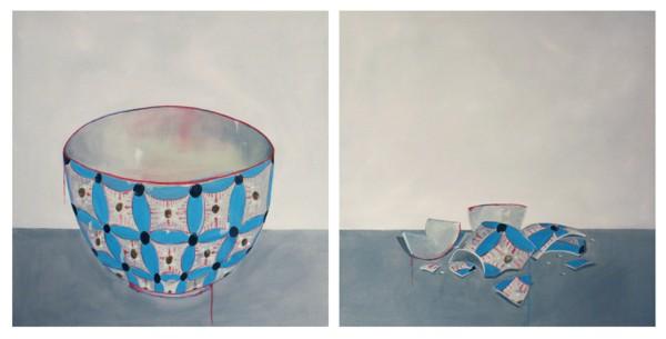 Rimasero solo dei cocci (neanche tutti) #3 - Painting - Chantal Criniti