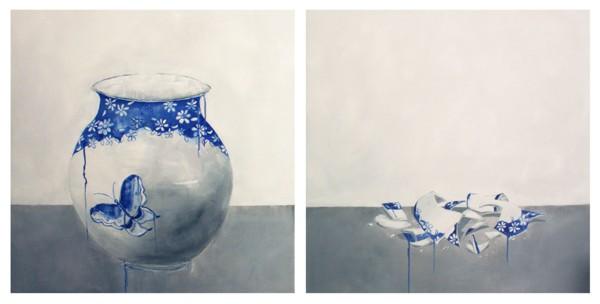 Rimasero solo dei cocci (neanche tutti) #1 - Pittura - Chantal Criniti