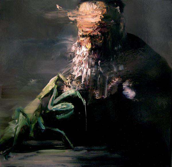 Mantis Dance - Painting - Maurizio L'Altrella