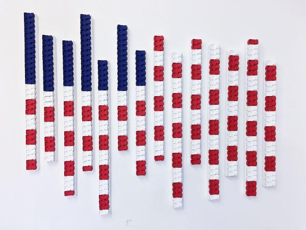 USA Flag - New Media - Paolo Ceribelli