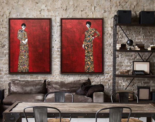 Memorable Women (Diptych) - Painting - Jose Cacho