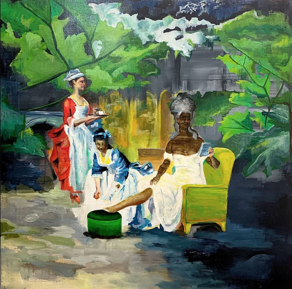 Madame and Servants - Painting - Gabriele Colletto
