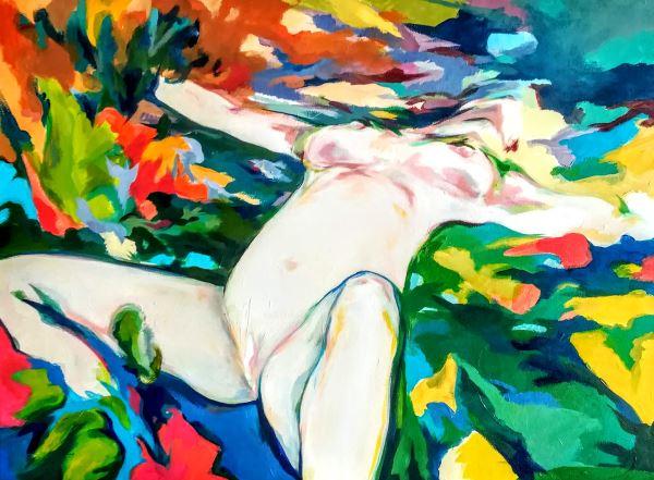 Respiro profondo - Painting - Michele Stagni
