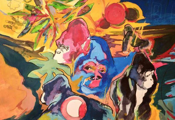Tu come me  - Painting - Michele Stagni