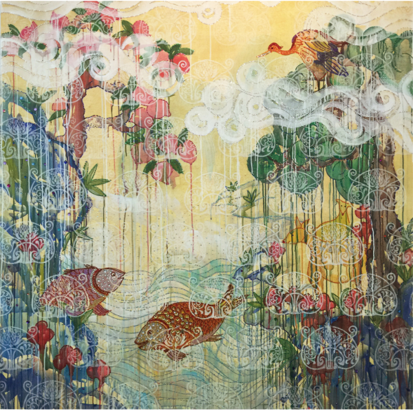 Paradise Between 16 - Painting - Kim Hee Sook