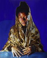 Migrant Mother II - Painting - Salvatore Alessi