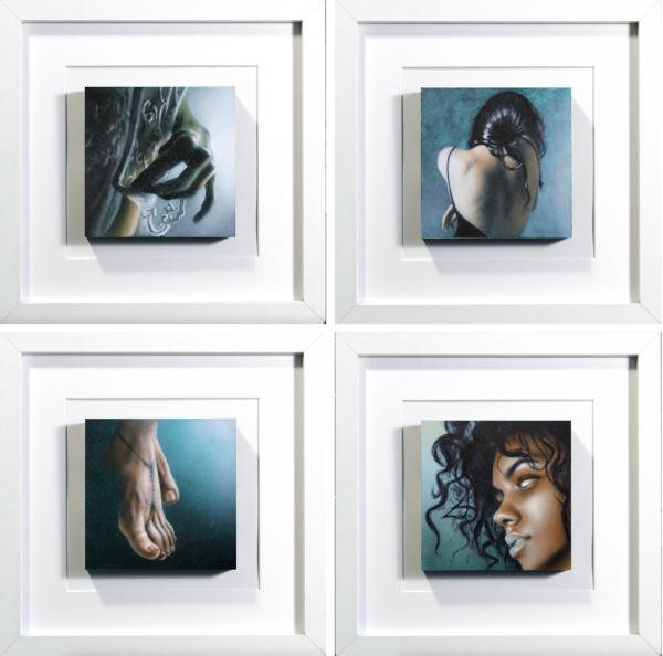 Tiny Canvas FourFour - Painting - Giampiero Abate