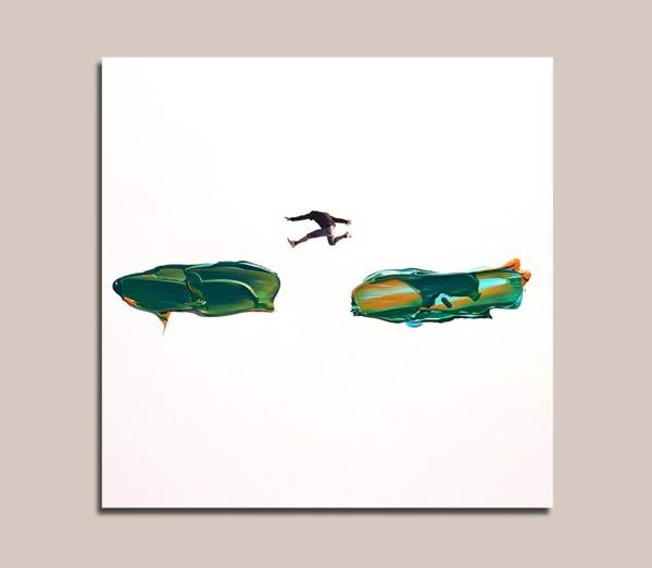 un salto tra un motivo e l'altro - Painting - Golsa Golchini